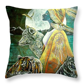 Where The Two Worlds Meet Throw Pillow