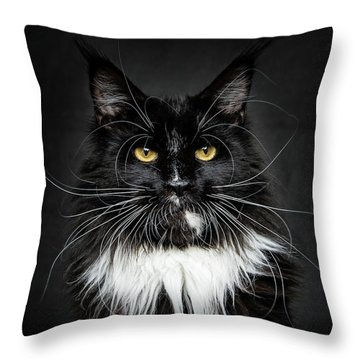 Throw Pillow featuring the photograph Whiskers  by Robert Sijka