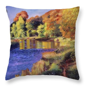 Whispering River Throw Pillow