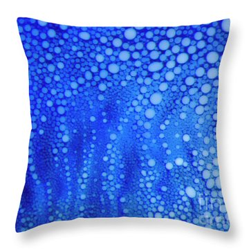 White Dots Throw Pillow