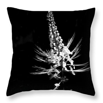White Flowers In Bloom Throw Pillow