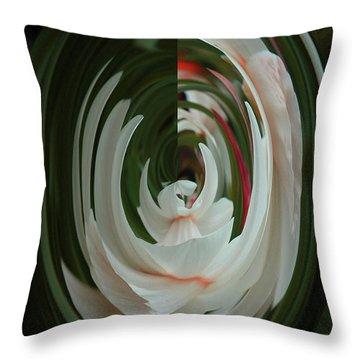 White Form Throw Pillow
