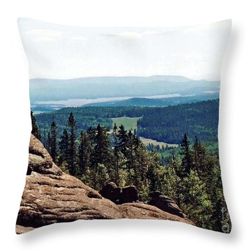 Throw Pillow featuring the photograph White Mountains Of Arizona by Juls Adams