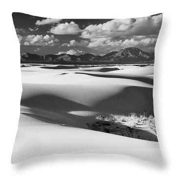 White Sands Afternoon Throw Pillow