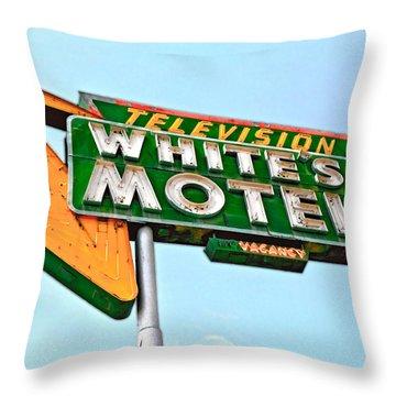 White's Motel Throw Pillow