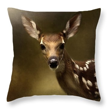 Whitetail Fawn Throw Pillow