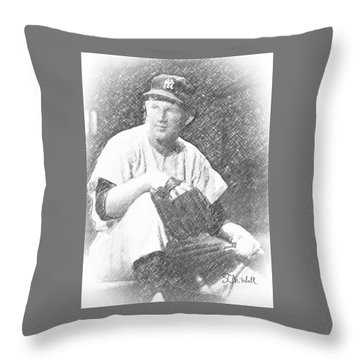 Whitey Ford Throw Pillow