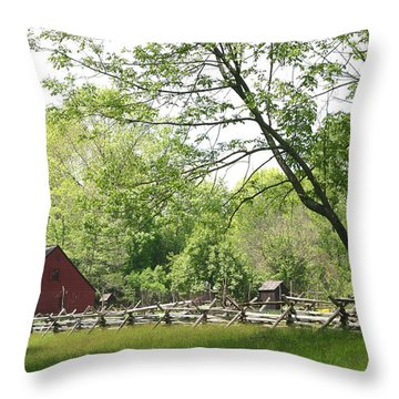 Wick Farm At Jockey Hollow Throw Pillow