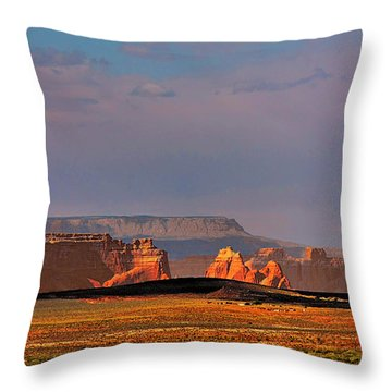 Wide-open Spaces - Page Arizona Throw Pillow by Christine Till