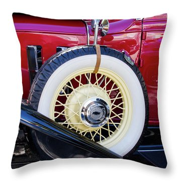 Wide Whitewall Spare Tire Throw Pillow