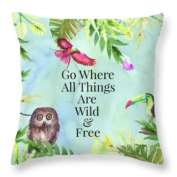 Throw Pillow featuring the digital art Wild And Free by Colleen Taylor