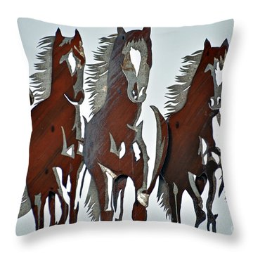 Throw Pillow featuring the photograph Wild And Free by Juls Adams