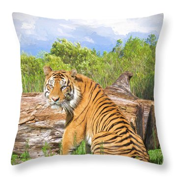 Wild Kingdom Throw Pillow by Judy Kay