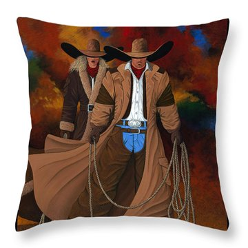 Wild West Days Poster/print  Throw Pillow
