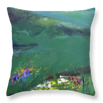 Wildflowers Throw Pillow by Gail Butters Cohen