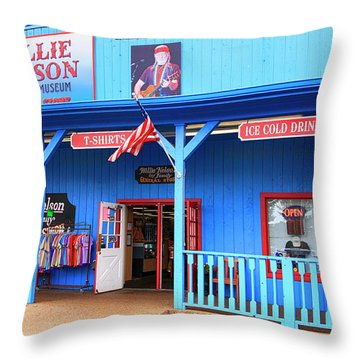 Willie Nelson And Friends Museum And Souvenir Store In Nashville, Tn, Usa Throw Pillow