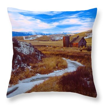 Willow Creek Barn Throw Pillow