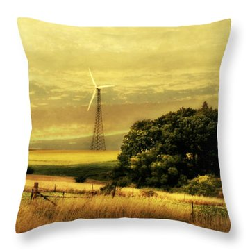 Throw Pillow featuring the photograph Wind Turbines by Julie Hamilton