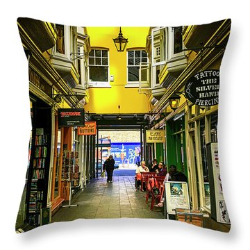 Windham Shopping Arcade Cardiff Throw Pillow