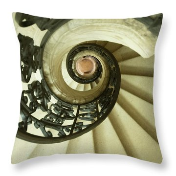 Winding Staircase. France. Europe. Throw Pillow