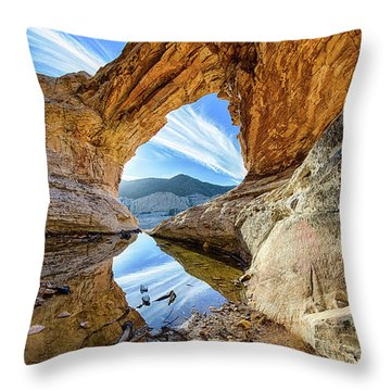 Window In The Sky Throw Pillow