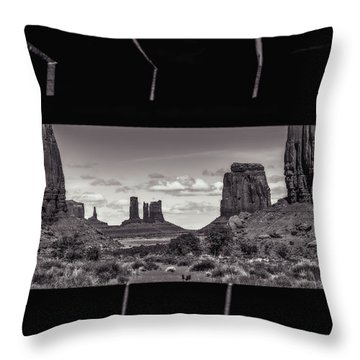 Window Into Monument Valley Throw Pillow by Eduard Moldoveanu