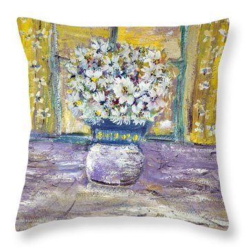 Windowpane Throw Pillow by Don  Wright