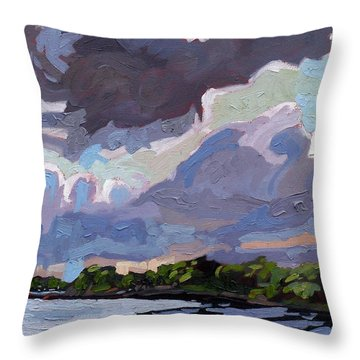 Windy Day Throw Pillow