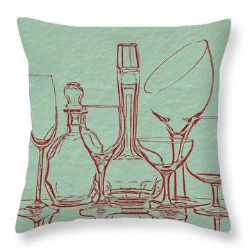 Goblets Throw Pillows