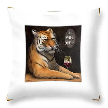 Throw Pillow featuring the painting Wine Queen... by Will Bullas