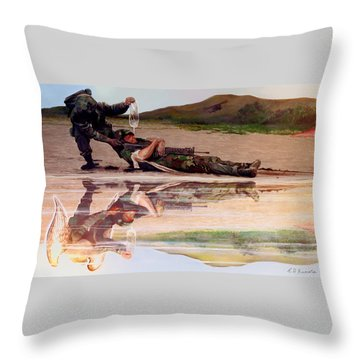Wings Of Hope Throw Pillow by Todd Krasovetz