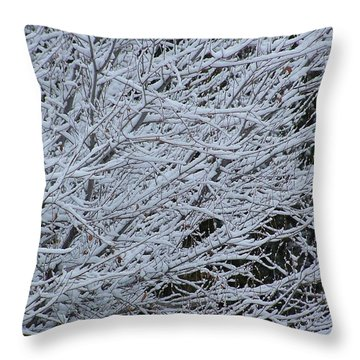 Winter At Dusk Throw Pillow