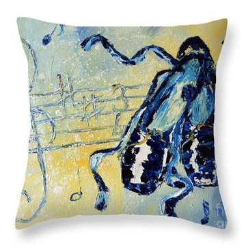 Winter Ballet Throw Pillow