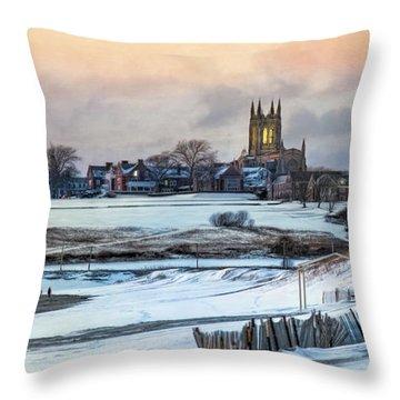 Throw Pillow featuring the photograph Winter Dusk by Robin-lee Vieira