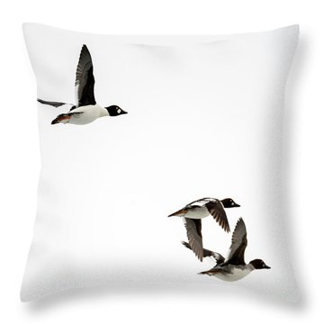 Winter Flight Throw Pillow