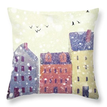 Throw Pillow featuring the photograph Winter In Nantucket by Amy Tyler