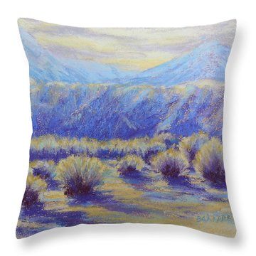 Winter Morning Riverbend Throw Pillow by Becky Chappell