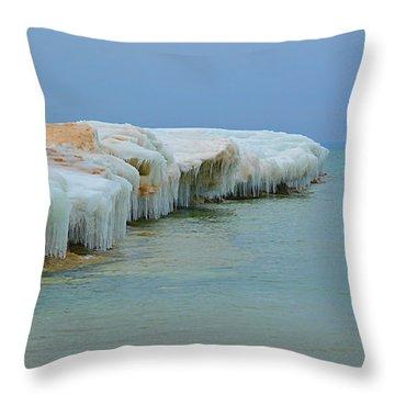 Winter Sculpting Throw Pillow