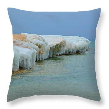 Throw Pillow featuring the photograph Winter Sculpting by SimplyCMB