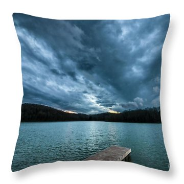 Throw Pillow featuring the photograph Winter Storm Clouds by Thomas R Fletcher