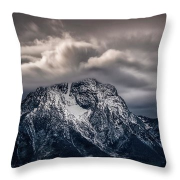 Winter Warning Throw Pillow
