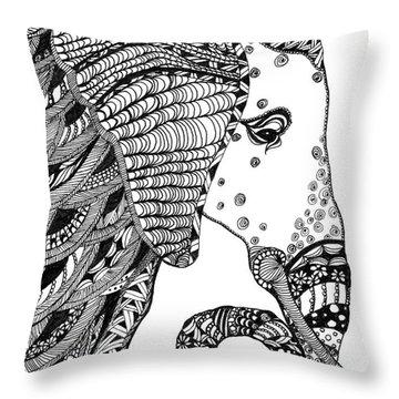 Wise Elephant Throw Pillow