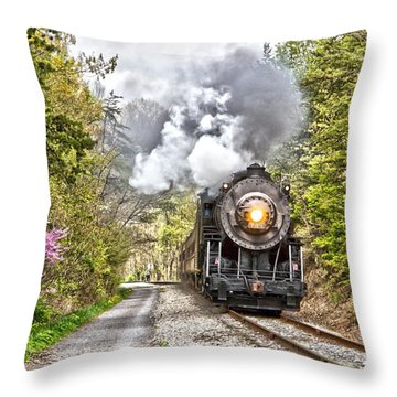 Wmsr Steam Engine 734  Throw Pillow