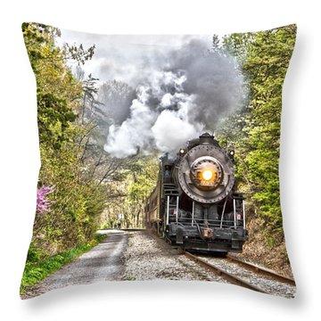 Wmsr Steam Engine 734  Throw Pillow by Jeannette Hunt