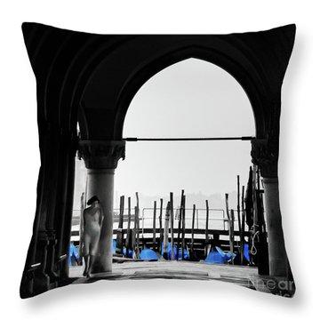 Woman At Doges Palace Throw Pillow
