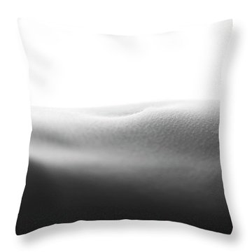 Womans Stomach Throw Pillow