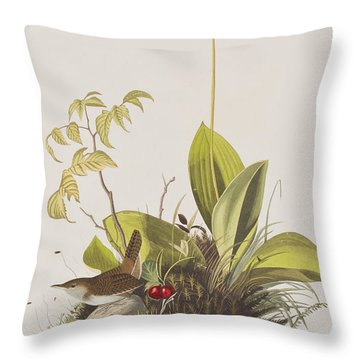 Wood Wren Throw Pillow