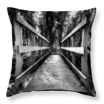 Wooden Bridge Throw Pillow