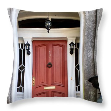Wooden Door Savannah Throw Pillow by Thomas Marchessault