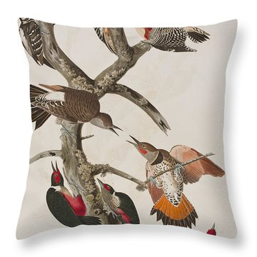 Woodpeckers Throw Pillow